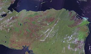 Outline of Honduras - An enlargeable satellite image of Honduras
