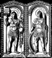 Honorius diptyk, Nordisk familjebok.png