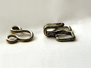 Hook-and-eye closure - Hook and eye clasp