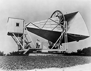 Cosmic microwave background - The Holmdel Horn Antenna on which Penzias and Wilson discovered the cosmic microwave background