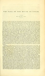 The Fall of the House of Usher 1839 short story by Edgar Allan Poe