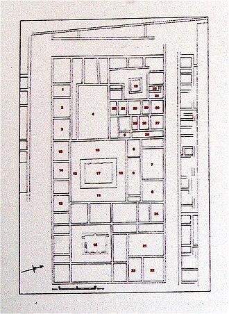 Paphos Archaeological Park - House of Dionysos plan