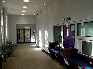 Hartlepool railway station - The ticket office, following redevelopment in 2008