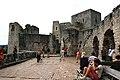 Hrad Rabí s hradním kostelem Nejsvětější Trojice, část stojící, část zřícenina a archeologické stopy (Rabí) (19).jpg