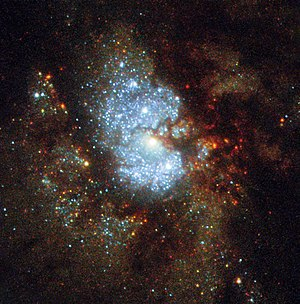 IC 342 - Image: Hubble's Hidden Galaxy