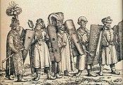 Hongaarse strijders, escorte van keizer Maximiliaan I