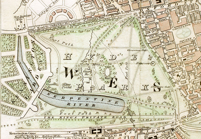 Hyde Park London from 1833 Schmollinger map.jpg
