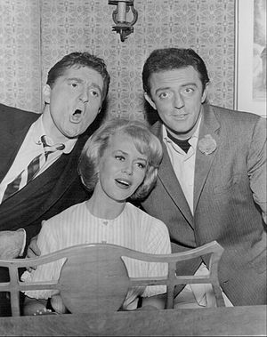 "I'm Dickens, He's Fenster - L-R: Marty Ingels, Emmaline Henry and John Astin in episode ""The Carpenters Four"" (1963)"
