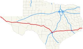 Interstate In Texas Wikipedia - Us interstate 10 map