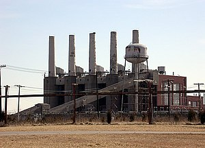 Indiana Army Ammunition Plant - One of the abandoned power plants.