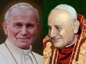 Image illustrative de l'article Canonisations des papes Jean XXIII et Jean-Paul II
