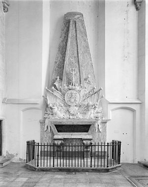 Philips van Almonde - Memorial for Philips van Almonde in the Saint Catherine's Church in Brielle