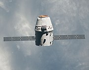 ISS-31 SpaceX Dragon commercial cargo craft approaches the ISS - crop
