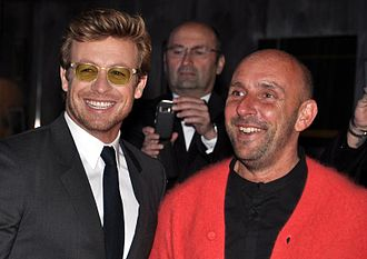 I Give It a Year - Star Simon Baker and director Dan Mazer in Paris at the film's French premiere, April 2013.