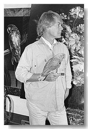Ian Hornak - Ian Hornak in his East Hampton, New York studio, 1997