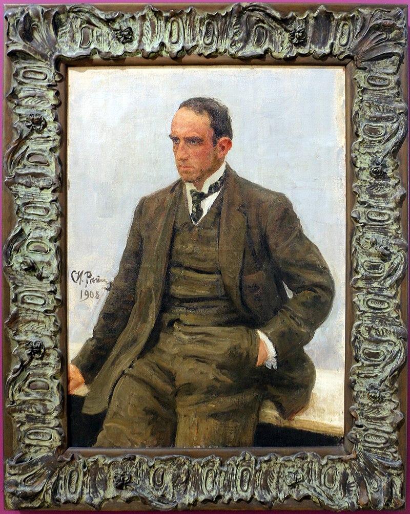 Илья репин, ритратто делло скульптор паоло трубецкой, 1908, 01.jpg