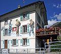 Illustration de la contrebande sur la maison de la douane Suisse à Bourg-Saint-Pierre.JPG