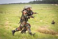 Indian Army soldiers with the 2nd Battalion, 5th Royal Gurkha Rifles bound toward an objective during field training with U.S. Soldiers with the 1st Brigade Combat Team, 82nd Airborne Division at Fort Bragg 130511-A-DK678-021.jpg