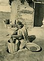 Indian woman Grinding Corn in 1904-Brück & Sohn Kunstverlag (cropped).jpg