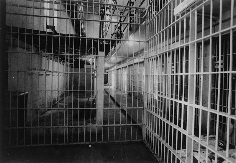 File:Inmate showers in Old Central Prison (State Prison), Raleigh, NC, in cell block, no date (c.1950-1960s); copied courtesy Keith Acree, NC Department of Corrections. State Archives of North Carolina, (28891475665).jpg