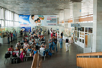 Baikal International Airport - Airport's hall before reconstruction, that began in 2011.