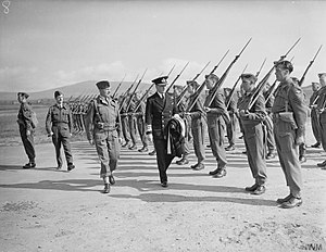 RAF Jurby - Inspection of RAF Regiment at RAF Jurby, 1942.