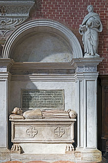 Interior of Santi Giovanni e Paolo (Venice) - Monument to the doge Michele Steno.jpg
