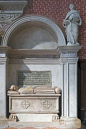 Michele Steno - His tomb in Venice.