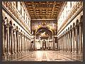 Interior of St. Paul's, Rome, Italy-LCCN2001700953.jpg