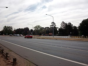 Barton Highway - Intersection of the Federal Highway, Barton Highway and Northbourne Avenue.