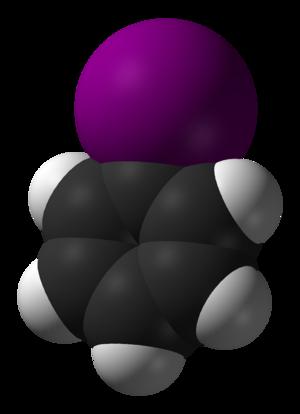 Iodobenzene - Image: Iodobenzene 3D vd W