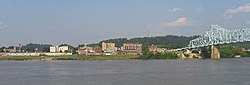 Ironton, as seen across the Ohio River in Russell, Kentucky