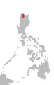 Isnag language map.png