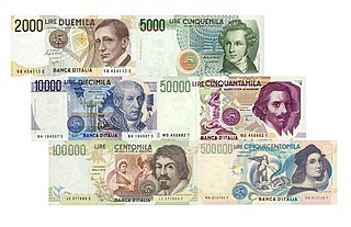 Italian lira currency