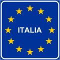 Italian traffic signs - confine CEE.svg