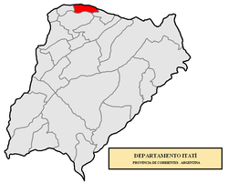 location of Itatí Department in Corrientes Province
