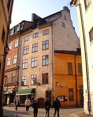 Ack du min moder - The Crawl-in Tavern (Krogen Kryp-In) of Epistle 23. Järntorget 85 in Stockholm's Gamla stan, the old town