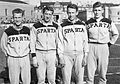 Jørgen Nielsen, Otto Rosenvard, Helmuth Duholm and Benny Schmidt 1953.jpg