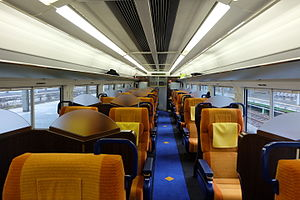 E653 series - Image: JR East E653Series Green Seat 1