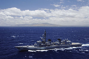 JS Ariake sailing off Hawaii, -5 Jul. 2006 b.jpg