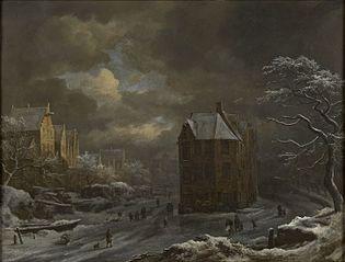 Winter View of the Hekelveld in Amsterdam