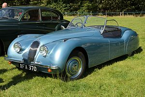 British International Motor Show - Jaguar XK120 open two seater — October 1948