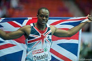 James Dasaolu - James Dasaolu after his silver medal at Göteborg 2013.