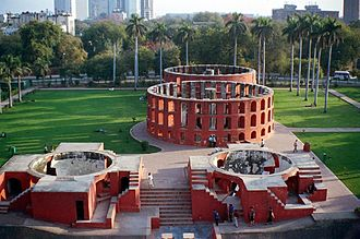 Indian astronomy - Yantra Mandir (completed by 1743 CE), Delhi.