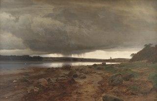 A Showery Landscape. Kalvø Vig, Jutland