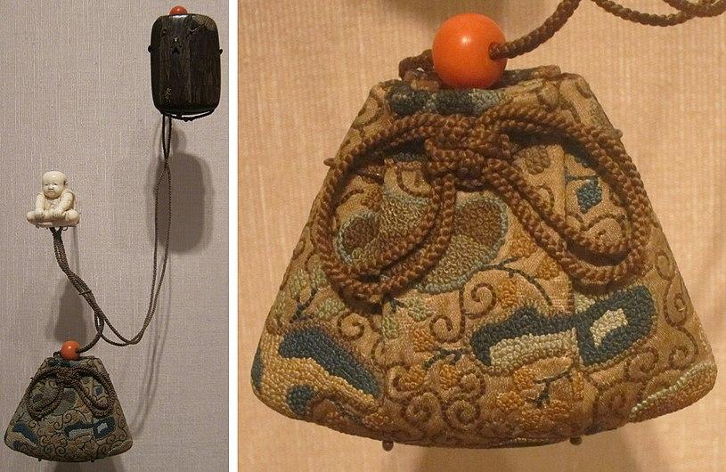 Japanese tobacco pouch, Honolulu Academy of Arts.jpg