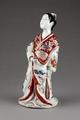 Japansk porslinsfigur från 1700 cirka, föreställande hovdam - Hallwylska museet - 96054.tif