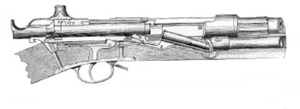 Jacob Smith Jarmann - Cross section of the Jarmann M1884