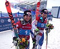 Jasmina Suter and Mélanie Meillard after GS in Sochi 2016.jpg
