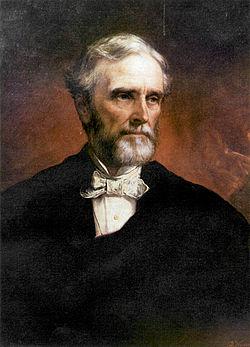 Portrait of Jefferson Davis by Daniel Huntington.